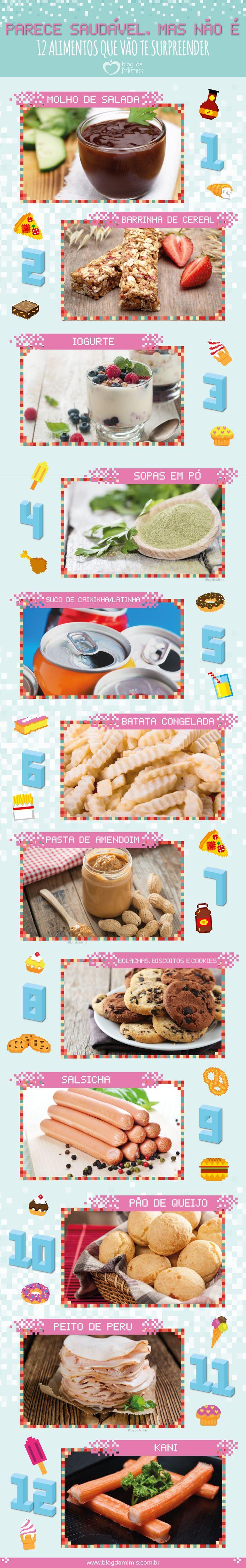 Parece saudável, mas não é: 12 alimentos que vão te surpreender