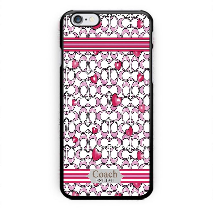 Best New COACH Love Pink Print On Hard Case For iPhone 6s plus, iPhone 7 Plus #UnbrandedGeneric