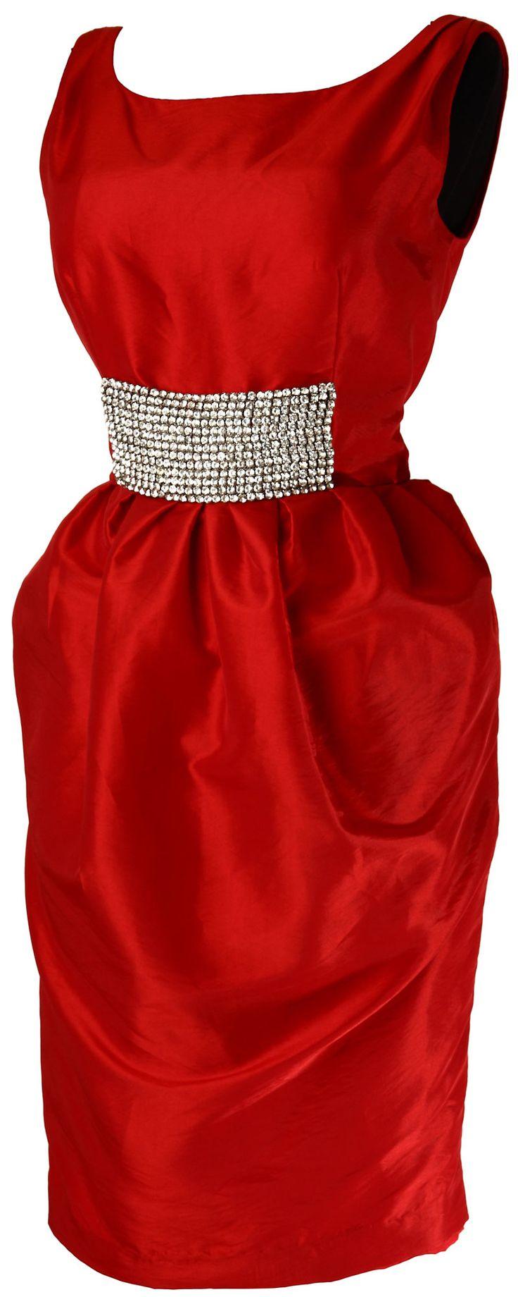 Эффектное коктейльное платье из шелковой тафты, декорированное стразами, Plumage Ceremony Project