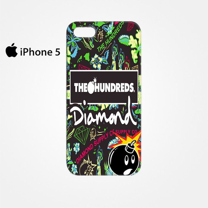 The Hundreds Diamond Supply Co for Iphone 4/4S Iphone 5/5S/5C Iphone 6/6S/6S Plus/6 Plus 3D Phone case