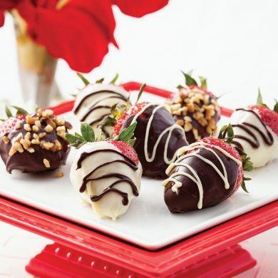Fraises aux deux chocolats desserts recettes 5 15 express st valentin pratico pratiques - Cash express la valentine ...