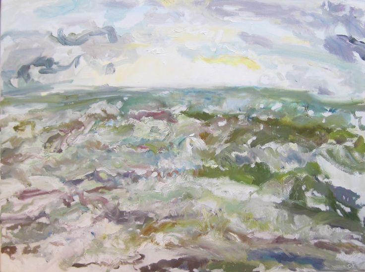 Blustery Day, Littlehampton Oil on Canvas 80 x 100 cm £ 1,500  #Art #Paintings #Seaascape