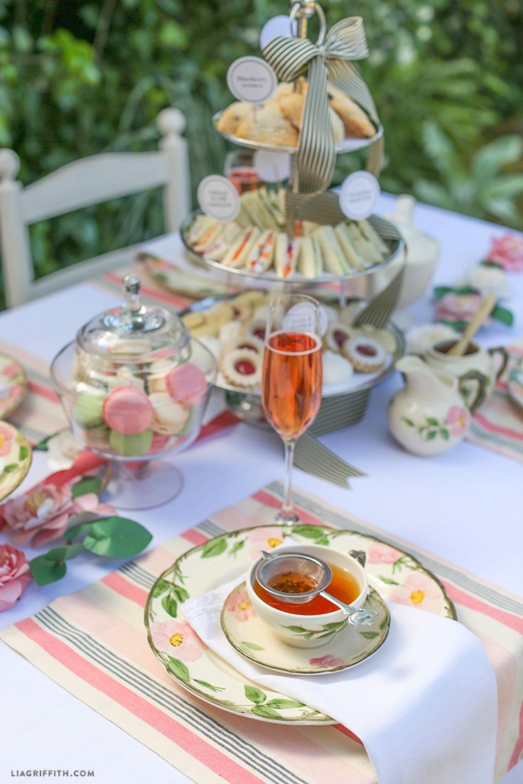 how to set up a table for afternoon tea