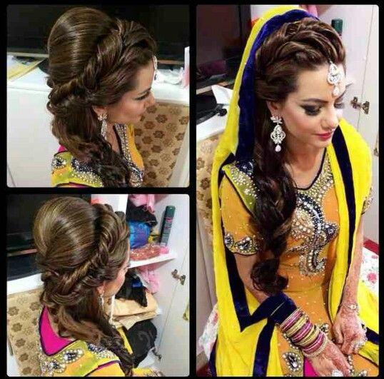 Mehndi Hairstyles With Jhumar : Mehndi hair by shamala shaadi clothes decoration