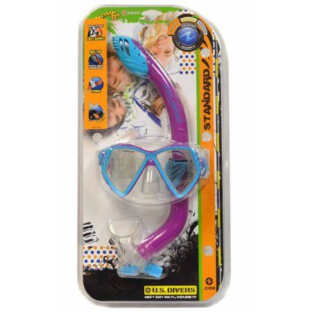 US Divers Regal Jr. Laguna Snorkel Combo - Kid's, Purple