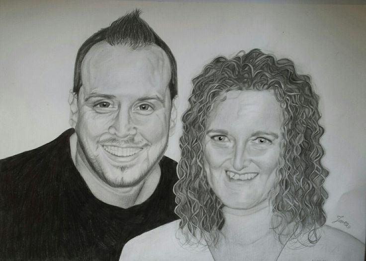 Couple portrait #portrait #couple #love #blackandwhite #pencils #staedtler