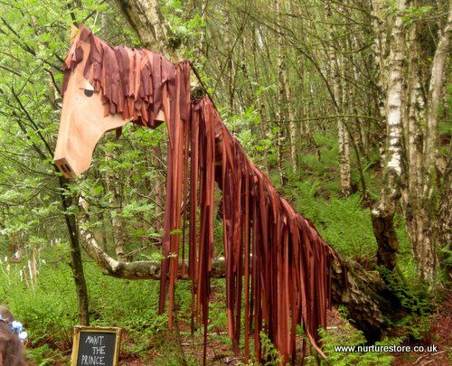 "Forest school: Storytelling. Amazing horse in 'The Spellbound Forest'. ("",)"