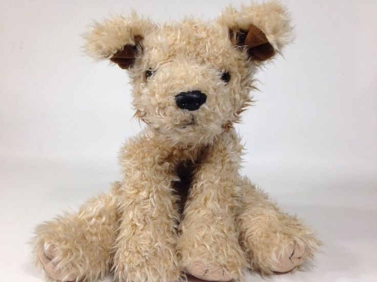 "Ty Toffee Terrier Puppy Dog Plush Brown Shaggy Bean Bag Stuffed Animal Mutt 10""  #Ty"