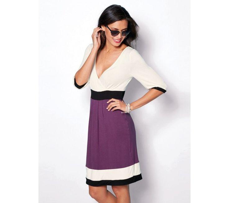 Trojfarebné šaty s krátkymi rukávmi | modino.sk #ModinoSK #modino_sk #modino_style #style #fashion #summer #bestseller