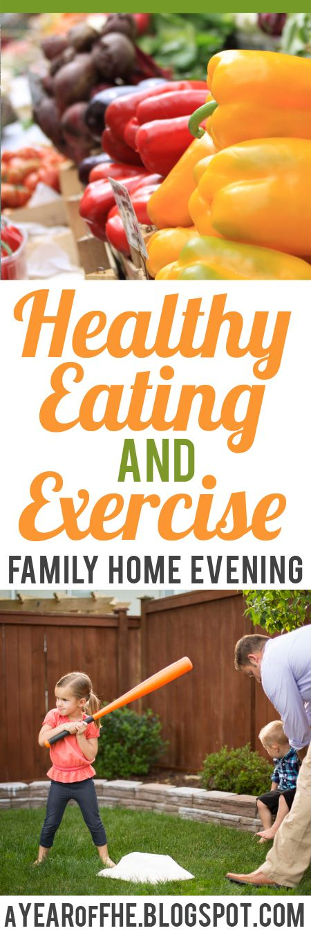 A Year Of Fhe Free Family Home Evening Lesson About The Importance Of Healthy