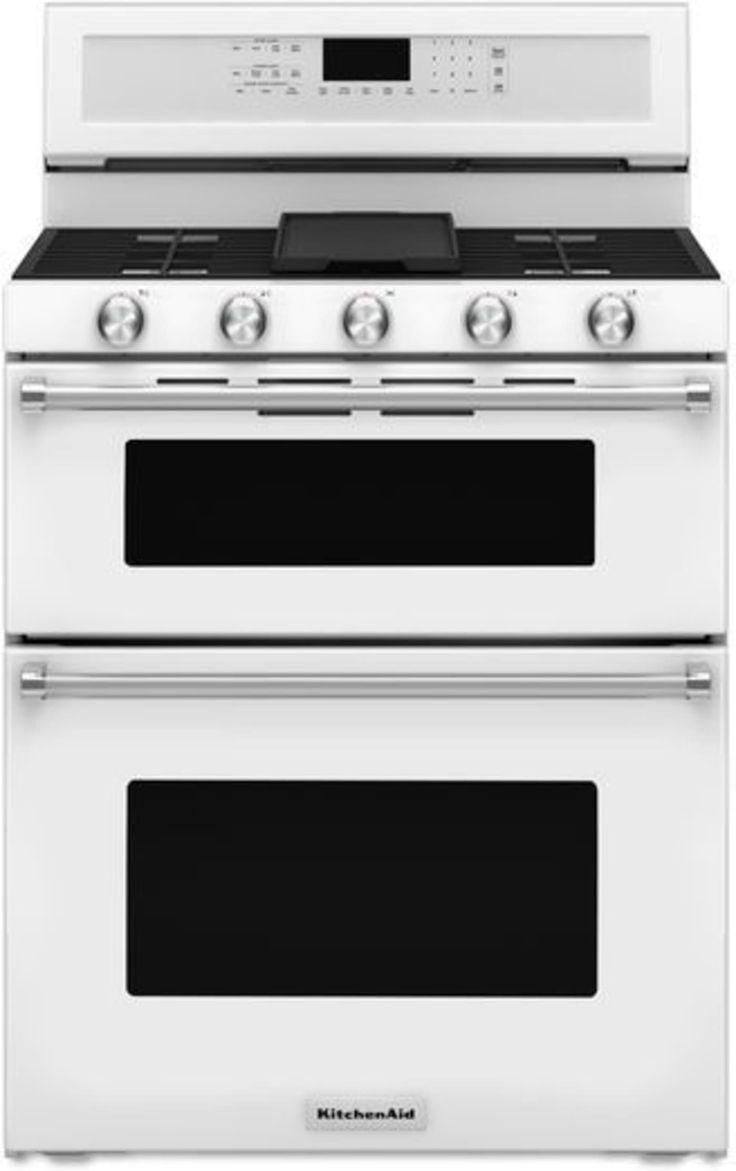 Kfgd500ewh by kitchenaid natural gas ranges goedekers