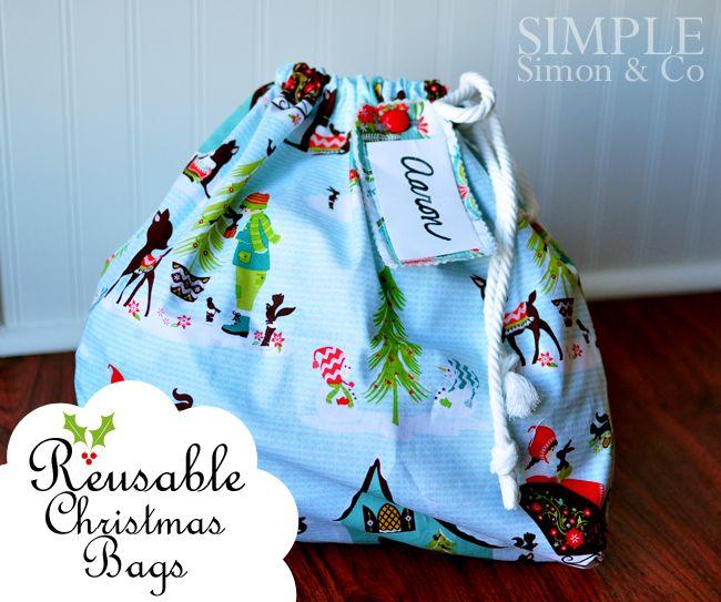 Simple Simon and Company: A Handmade Christmas: Reusable Christmas Bags