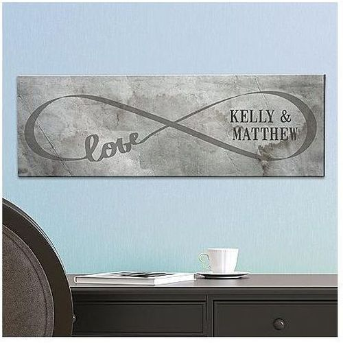 Infinity Canvas | Engagement Party Gifts For Couples, Him, Her, Bride, Groom | Wedding Gifts