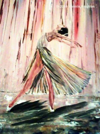 Ballerina Acrylic on Canvas