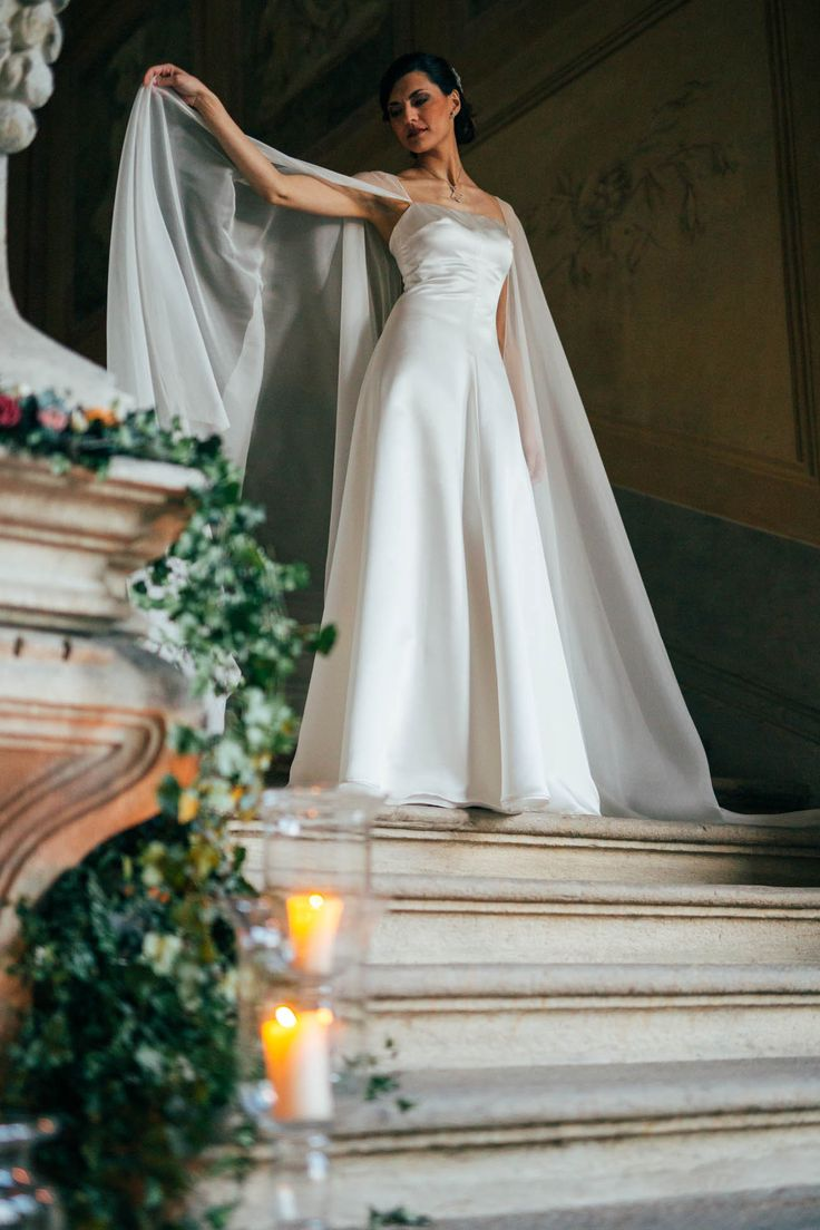 stunning wedding cape by il sogno atelier