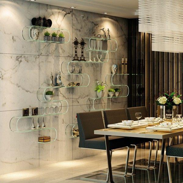 Estantes Para Baños Acero Inoxidable:colgar de la pared estante de vidrio-imagen-Estanterías de Baño