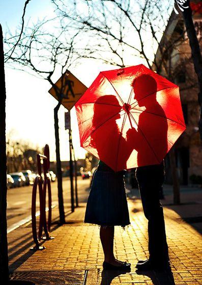 Beautiful: Engagement Pictures, Photos Ideas, Engagement Photos, Cute Couple, Silhouette, Cute Ideas, Cuteideas, Engagement Pics, Red Umbrellas