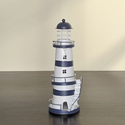 Blue Stripe Lighthouse     List $17.99   SKU 115174   4.5inches wide13inches high