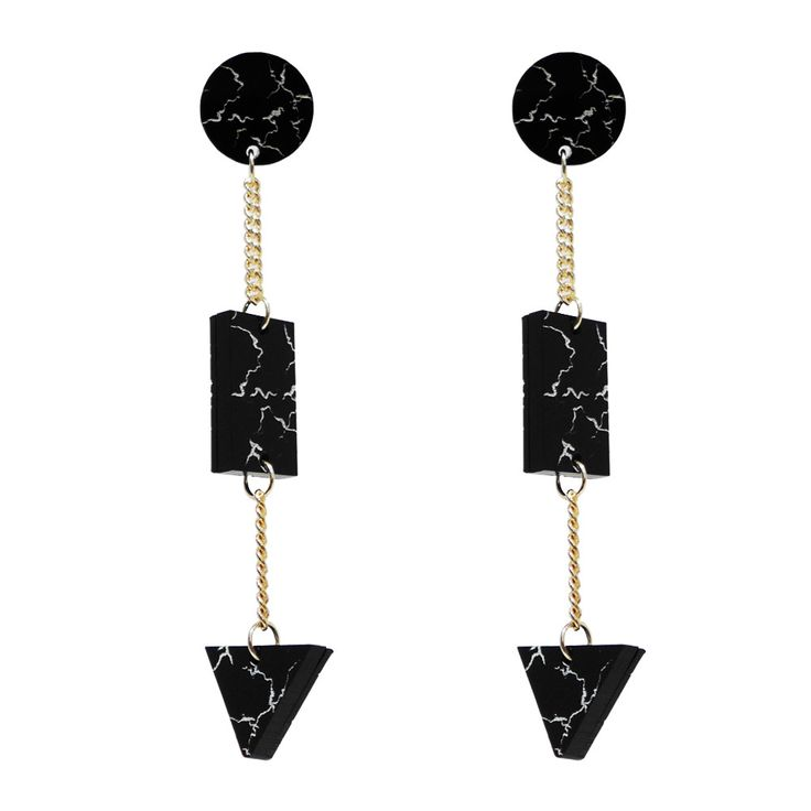 Geo Marble Drop Earrings from Melody Ehsani