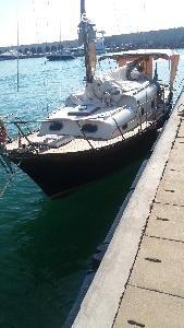 #Motorsail 8,15 metri in legno ( #lamellare in #mogano), Anno 1967, #cantiere #CONSNAVA, #Motore Nanni #Mercedes 40hp, ponte in teak, ... #annunci #nautica #barche #ilnavigatore