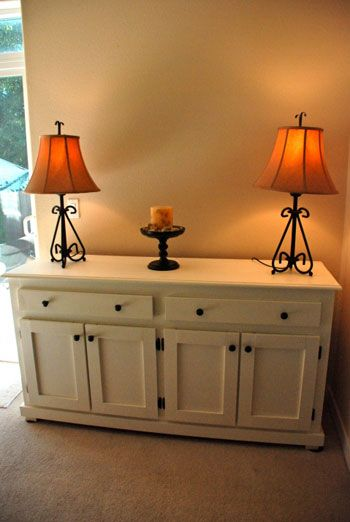 refurbished dresser - from old country style to sleek & modern