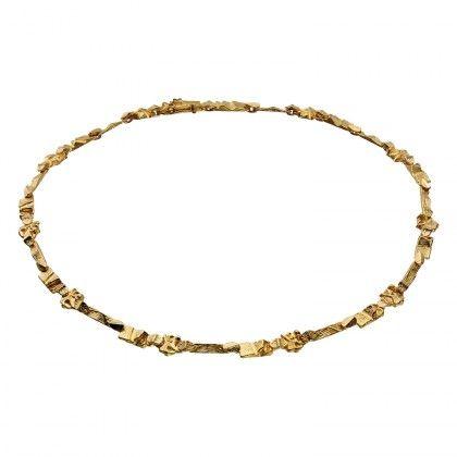 Lapponia Jewelry / Tenochtitlan II necklace 14K / Design: Björn Weckström