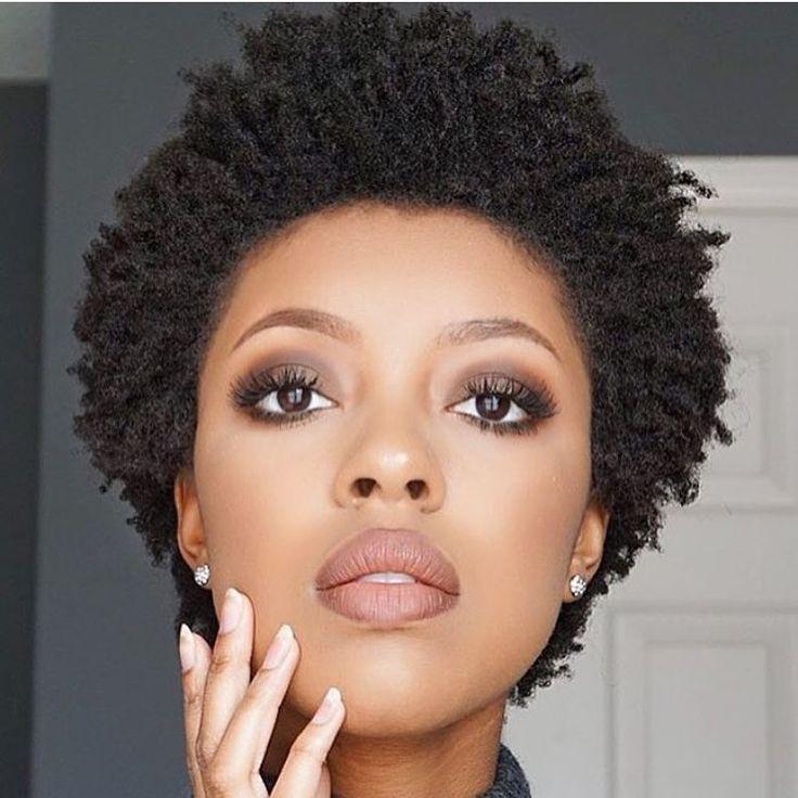 TWA perfection | Afros de 2019 | Maquiagem perfeita, Cabelo e Maquiagem