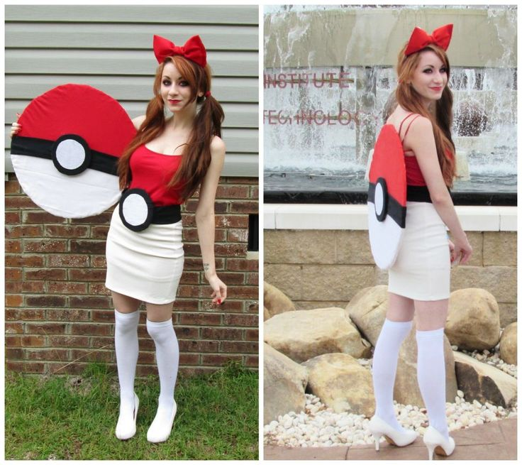 Let's start with the most classic of Pokemon costumes, shall we? If you love red and white and are willing to do a bit of DIY-ing, this cute costume could be perfect for you. Click through for a tutorial and more easy Pokémon costume ideas.