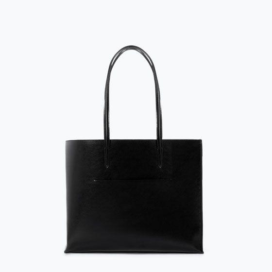 ZARA - SALE - SHOPPER BAG WITH POCKET