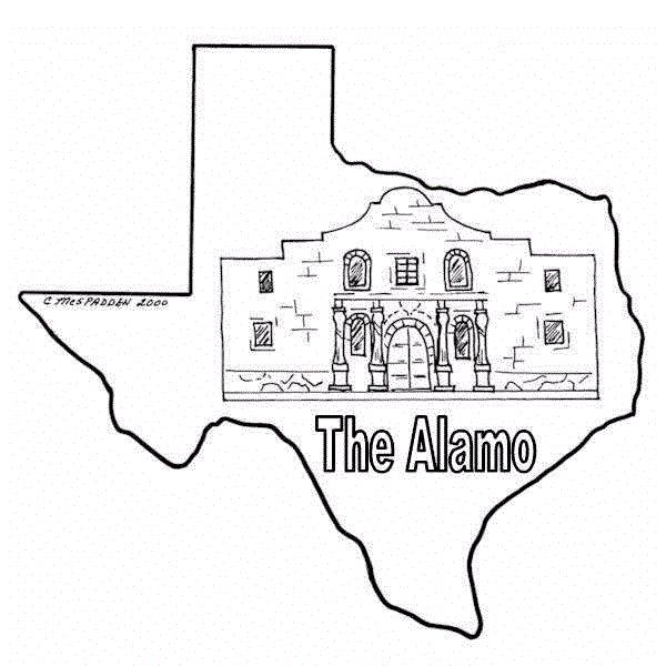 texas coloring sheets