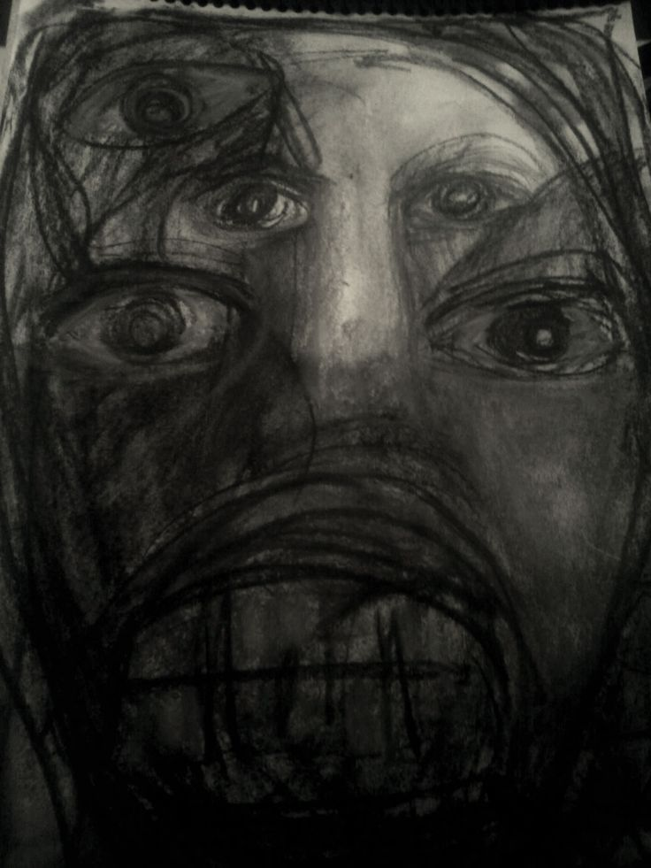 """""""Me, It, And I"""" Hand sketched Charcoal on Paper By Ruth Clotworthy"""