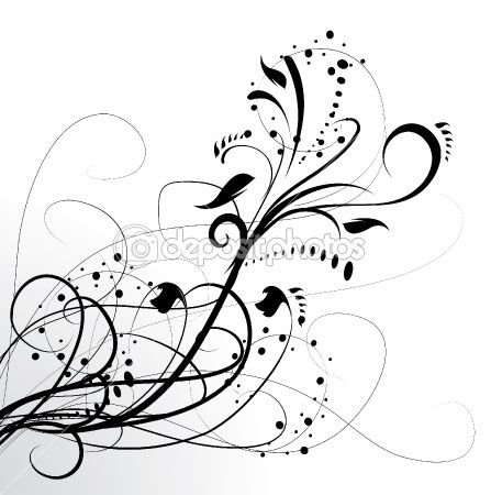 abstract tattoos | Abstract floral background, element for design.  Stock Vector