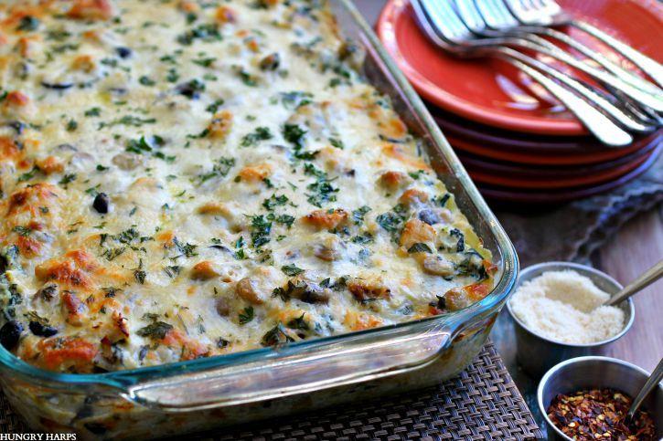 Hungry Harps: White Spinach-Artichoke Chicken Lasagna
