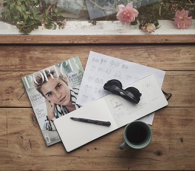 Morning Scribbles #shjark #thecompleteoutfitter #ss16 #catalogue @ameyewear @moleskine_world @portermagazine
