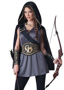 hunter costumes for women | Hunger Hunter Archer Games Katniss Halloween Costume | eBay