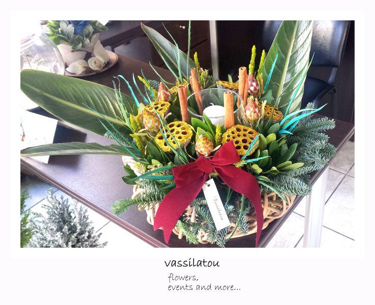 Flower Art! Christmas arrangement!