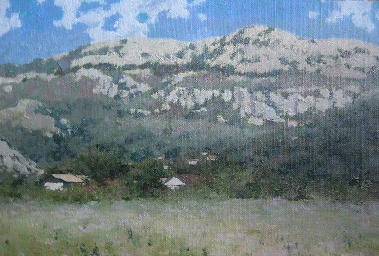 Montenegro #Oil #landscape painting in realism manner. 2008, oil on canvas on hardboard, 20x29.5 cm.