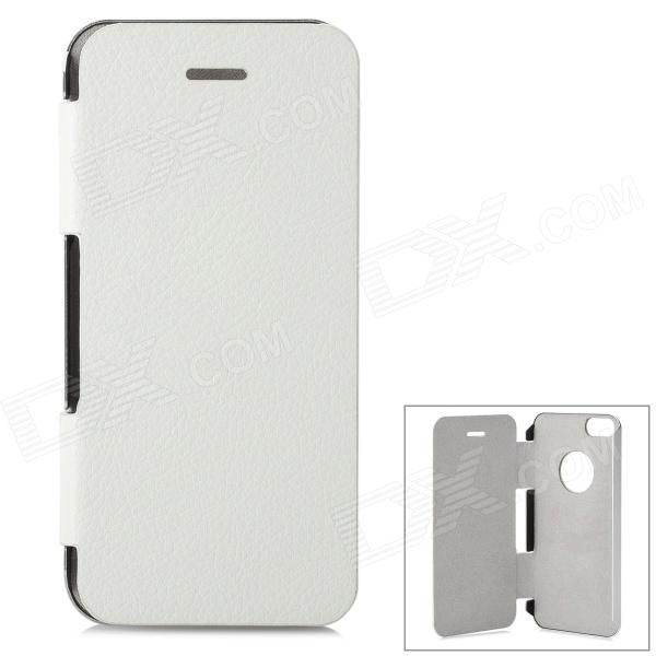 Color: Silver + White; Brand: N/A; Model: 2N1-1; Quantity: 1 Set; Material: Aluminum alloy + PU leather; Compatible Models: IPHONE 5S,IPHONE 5; Style: Full Body Cases; Packing List: 1 x Case; http://j.mp/1p105Mz