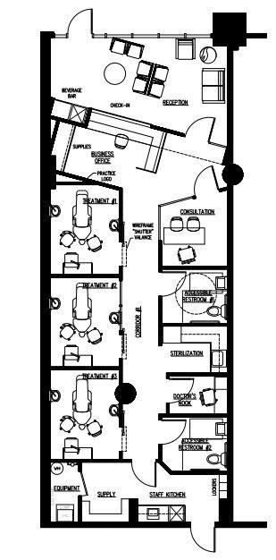 Cosmetic dentistry new york 1 200 floor plans for Dental office design 1500 sq ft