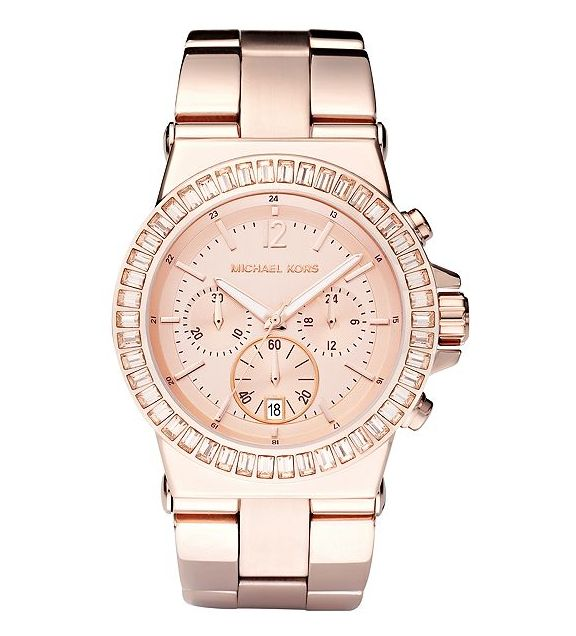 Rose Gold Chronograph Watch: Fashion, Rosegold, Style, Michaelkor, Rose Gold Watches, Roses, Jewelry, Michael Kors Watches, Accessories
