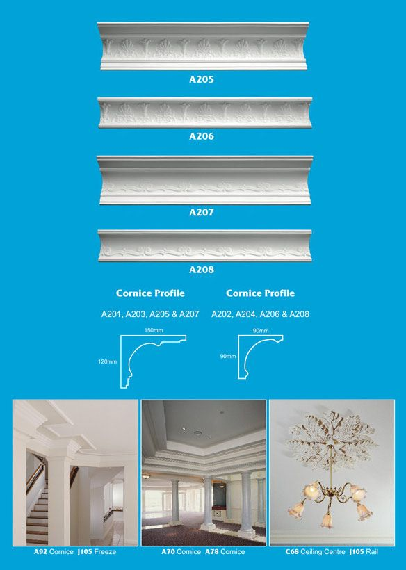Page 3 - Cornice - Ceiling Panels is Brisbane's largest supplier of plaster ornamental cornice, colonial cornices, art deco cornices, victorian style cornices, federation style cornices, georgian cornices, and neo gothic cornices.