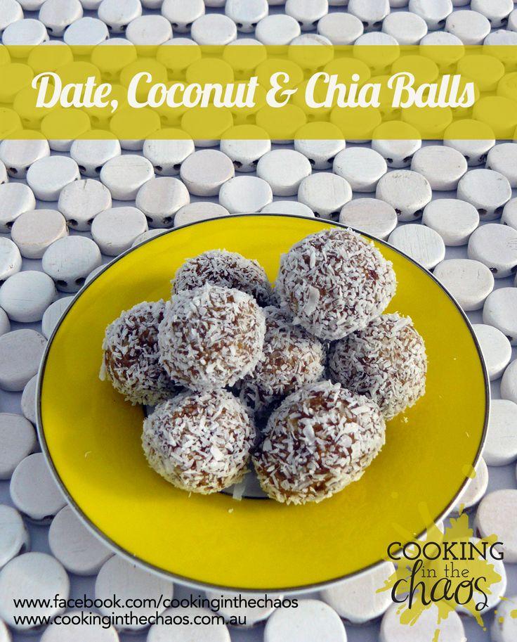 Date, Chia & Coconut Balls - Thermomix