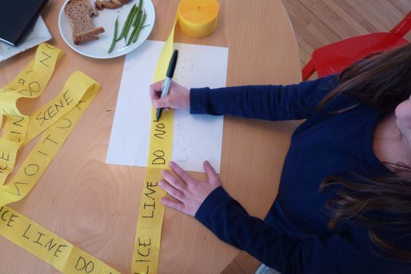 Make our own 'do not cross' yellow tape! Also good idea for secret agent party time line, scavenger hunt and 'pass the parcel game'