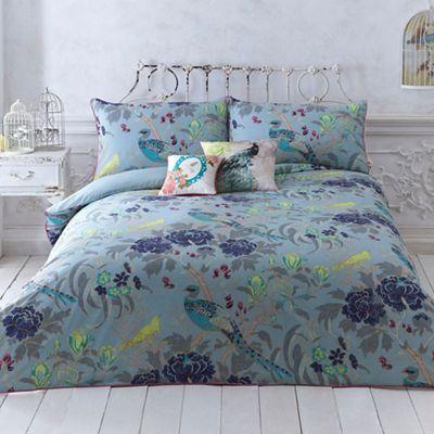 Butterfly Home by Matthew Williamson Turquoise 'Magnolia Peacock' bedding set | Debenhams