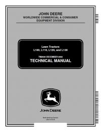 repair manual John Deere L100 L110 L120 L130 Lawn Tractors Technical Manual PDF TM 2026