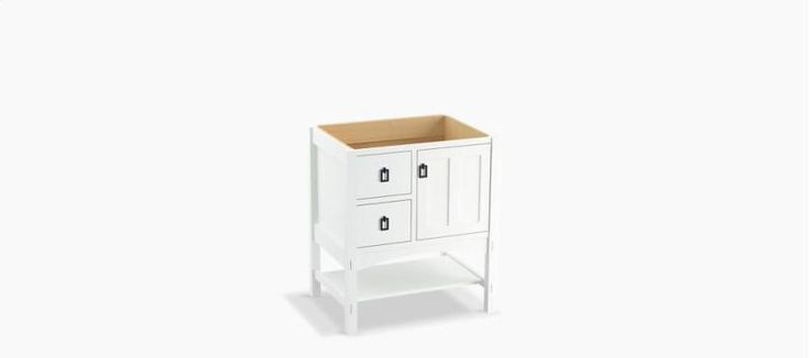"""Marabou 30"""" Vanity With 1 Door and 2 Drawers On Left. Replace the pulls though!"""