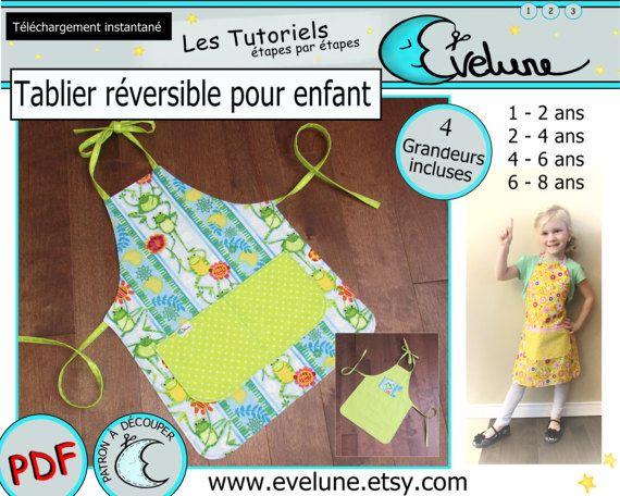 Tablier réversible pour enfant PDF / Patron Français / 4
