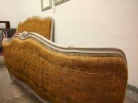 Łóżko Ludwik pomalowane mieszanka Original i Paloma w proporcji 2:1. Jeszcze bez tapicerki
