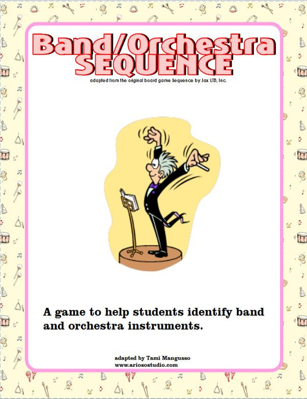 Band And Orchestra Sequence Game Also One For Classroom Instruments As Well Several