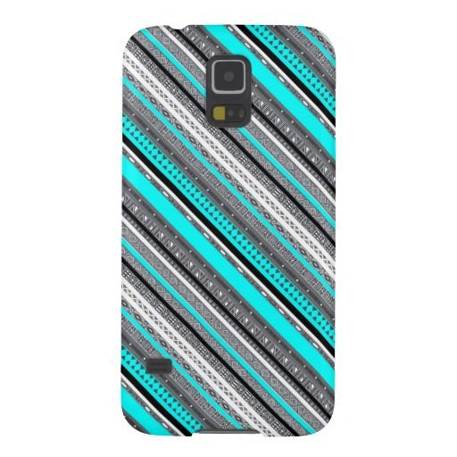 Cute blue gray aztec patterns design Samsung galaxy s5 case - available - $39.95